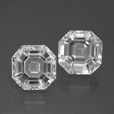 thumb image of 11.8ct Asscher Cut White Quartz (ID: 395780)