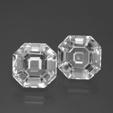 thumb image of 11.7ct Asscher Cut White Quartz (ID: 395781)
