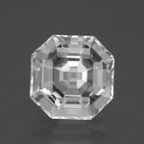 thumb image of 5.3ct Asscher Cut Clear White Quartz (ID: 395925)
