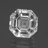thumb image of 9.7ct Asscher Cut Clear White Quartz (ID: 395977)