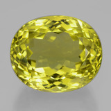 thumb image of 37.7ct Oval Facet Lemon Quartz (ID: 398947)