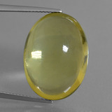 thumb image of 28ct Cabujón Óvalo Light Golden-Yellow Cuarzo (ID: 405982)