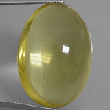 thumb image of 56.6ct Oval Cabochon Pineapple Yellow Quartz (ID: 406102)