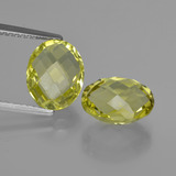 thumb image of 5.4ct Oval Checkerboard (double sided) Lemon Quartz (ID: 416733)
