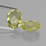 thumb image of 4.8ct Oval Checkerboard (double sided) Lemon Quartz (ID: 416739)