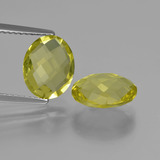 thumb image of 4.5ct Oval Checkerboard (double sided) Lemon Quartz (ID: 417073)