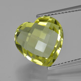 thumb image of 6.8ct Heart Checkerboard (double sided) Lemon Quartz (ID: 417133)