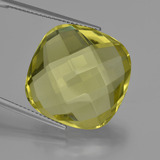 thumb image of 24.1ct Cushion Checkerboard (double sided) Lemon Quartz (ID: 417279)