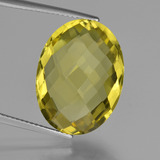 thumb image of 15.3ct Oval Checkerboard (double sided) Lemon Quartz (ID: 417286)