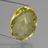 thumb image of 15ct Oval Checkerboard (double sided) Lemon Quartz (ID: 417293)
