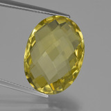 thumb image of 15.2ct Oval Checkerboard (double sided) Lemon Quartz (ID: 417294)