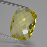 thumb image of 14.6ct Cushion Checkerboard (double sided) Lemon Quartz (ID: 417296)