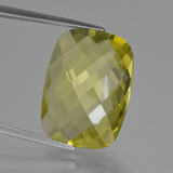thumb image of 15.1ct Cushion Checkerboard (double sided) Lemon Quartz (ID: 417298)