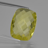 thumb image of 14ct Cushion Checkerboard (double sided) Lemon Quartz (ID: 417299)