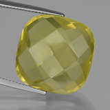 thumb image of 26.9ct Cushion Checkerboard (double sided) Lemon Quartz (ID: 417316)