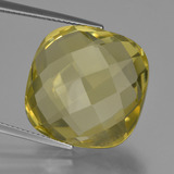 thumb image of 27.4ct Cushion Checkerboard (double sided) Lemon Quartz (ID: 417319)