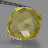 thumb image of 27.5ct Cushion Checkerboard (double sided) Lemon Quartz (ID: 417325)