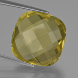 thumb image of 25.5ct Cushion Checkerboard (double sided) Lemon Quartz (ID: 417329)