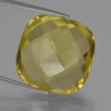 thumb image of 26.6ct Cushion Checkerboard (double sided) Lemon Quartz (ID: 417330)