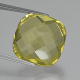 thumb image of 26.2ct Cushion Checkerboard (double sided) Lemon Quartz (ID: 417351)