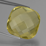thumb image of 26.8ct Cushion Checkerboard (double sided) Lemon Quartz (ID: 417356)