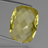 thumb image of 15.1ct Cushion Checkerboard (double sided) Lemon Quartz (ID: 417360)