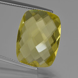 thumb image of 15.2ct Cushion Checkerboard (double sided) Lemon Quartz (ID: 417361)