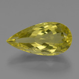 thumb image of 14.2ct Pear Facet Lemon Quartz (ID: 417363)