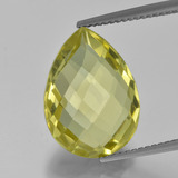 thumb image of 8ct Pear Double-Sided Checkerboard Lemon Quartz (ID: 417369)