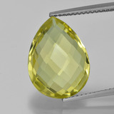 thumb image of 8.3ct Pear Double-Sided Checkerboard Lemon Quartz (ID: 417370)