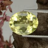 thumb image of 3.2ct Oval Facet Lemon Quartz (ID: 417568)