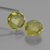thumb image of 4ct Round Checkerboard (double sided) Lemon Quartz (ID: 417599)