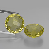 thumb image of 10.6ct Round Checkerboard (double sided) Lemon Quartz (ID: 417682)