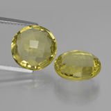 thumb image of 10.2ct Round Checkerboard (double sided) Lemon Quartz (ID: 417686)