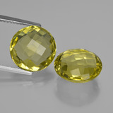 thumb image of 10.4ct Round Checkerboard (double sided) Lemon Quartz (ID: 417688)
