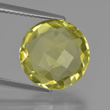 thumb image of 5.3ct Round Checkerboard (double sided) Lemon Quartz (ID: 417849)