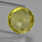 thumb image of 5.4ct Round Checkerboard (double sided) Lemon Quartz (ID: 417855)