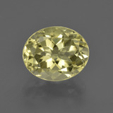 thumb image of 3.7ct Oval Facet Lemon Quartz (ID: 423261)