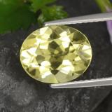 thumb image of 3.1ct Oval Facet Lemon Quartz (ID: 423359)