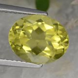 thumb image of 3.2ct Oval Facet Lemon Quartz (ID: 423375)