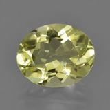 thumb image of 3.1ct Oval Facet Lemon Quartz (ID: 423379)
