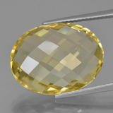 thumb image of 17ct Oval Checkerboard (double sided) Yellow Golden Quartz (ID: 451444)