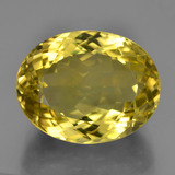 thumb image of 17.9ct Oval Facet Lemon Quartz (ID: 452100)