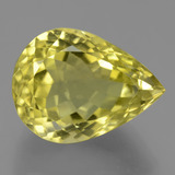 thumb image of 17ct Pear Facet Lemon Quartz (ID: 453500)