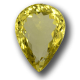 thumb image of 17.5ct Pear Facet Lemon Quartz (ID: 457688)