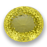 thumb image of 38.3ct Oval Concave Cut Medium Yellow Quartz (ID: 458215)