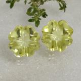 thumb image of 19.4ct Carved Flower Lemon Quartz (ID: 470479)