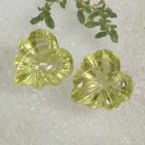 thumb image of 10ct Carved Leaf Lemon Yellow Quartz (ID: 470480)