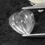 thumb image of 1.3ct Carved Heart White Quartz (ID: 470532)
