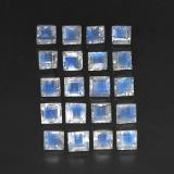 thumb image of 3.7ct Square Facet Blue White Rainbow Moonstone (ID: 305331)